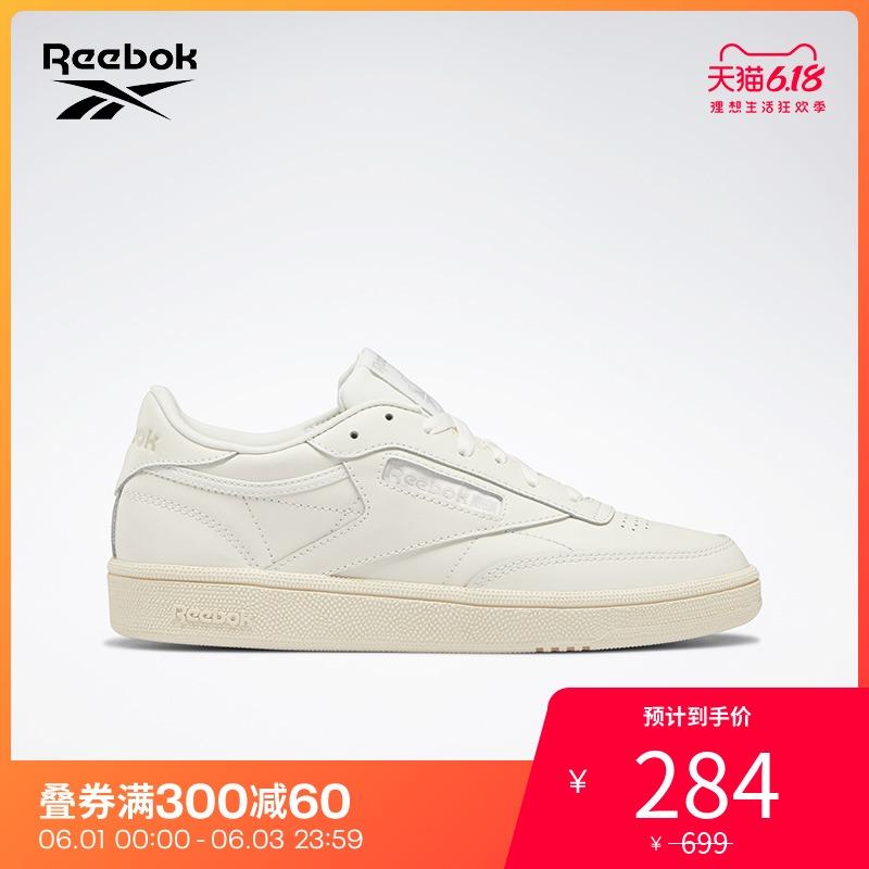 Reebok锐步女子时尚休闲鞋CLUB C 85 秋冬潮流经典百搭板鞋DV8364图片