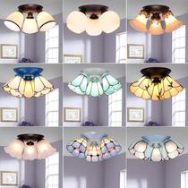 地中海蒂凡尼吸顶灯美式风格简约书房卧室过道阳台玄关三头吸顶灯