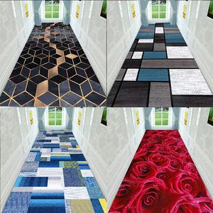 欧式创意可水洗走廊地垫卷材阳台满铺卧室床边门厅地毯大面积定制