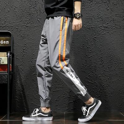 棚拍立 电商A088-K18439-P45 100%聚酯纤维 大码休闲裤 束脚裤 男