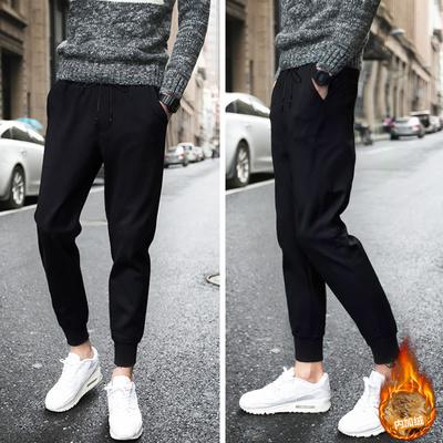 上海 電商A088-K18499-P50 95%聚酯纖維5%氨綸 加絨加厚 休閑褲男