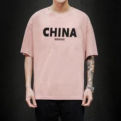 马切达 电商A088-T20831-P20 100%棉 夏季新款宽松休闲短袖T恤 男