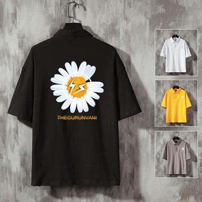 挂拍泥 电商A088-T20992-P35 95%棉5%氨纶 夏季新款宽松短T恤上衣