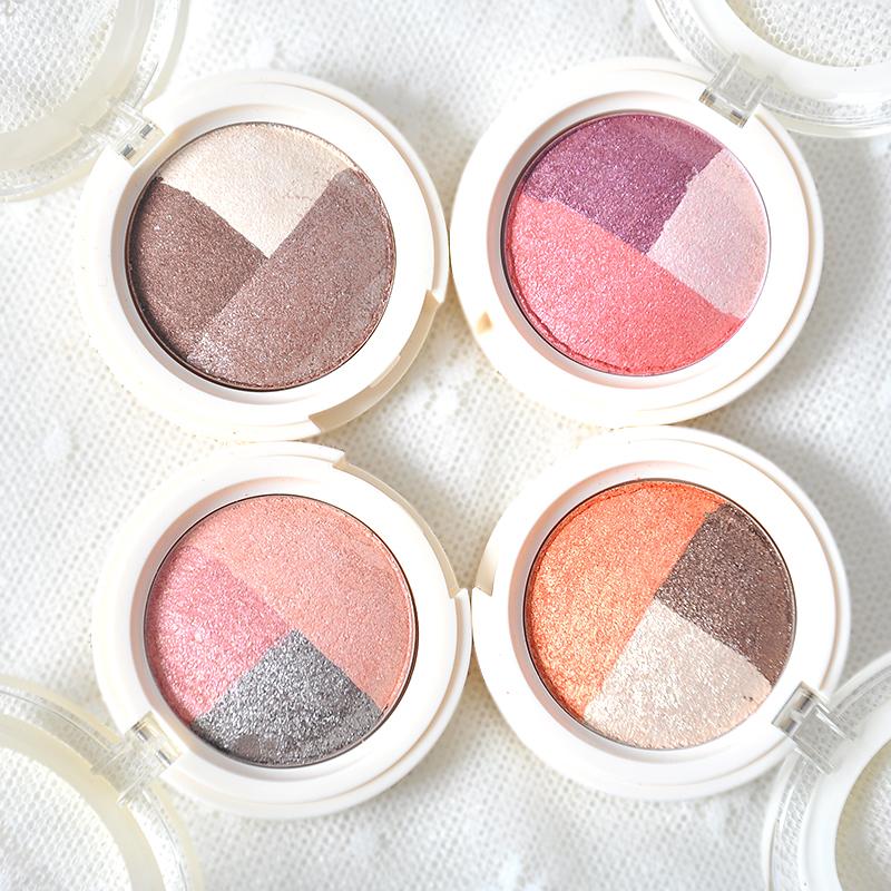 Корея the saem получить свежий триколор жемчужина тени для век блюдо составить земля цвет не цветущий естественный макияж подлинный