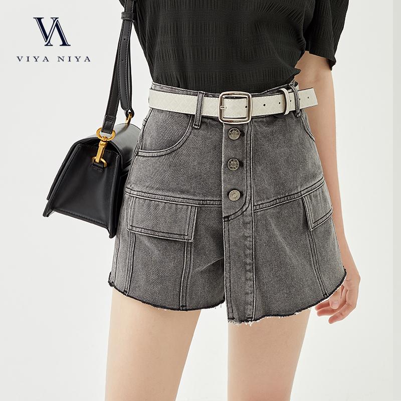 薇娅viya定制牛仔裙裤配腰带  XSS007328