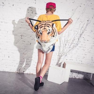 2016 моды рюкзак Льва глава Тигр головы тигра глава Ms Bao Nan школьные сумки сумка почта