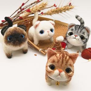 解压玩具 羊毛毡玩偶戳戳乐diy材料包