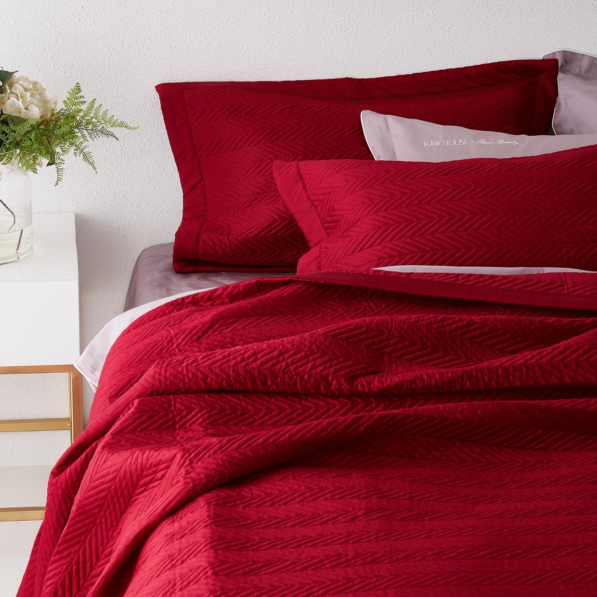 原素品制床上用品床单床盖三件套纯棉全棉结婚婚庆三件套简约北欧