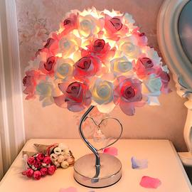 七夕玫瑰花台灯结婚礼物创意婚庆公主婚房长明装饰温馨卧室床头灯