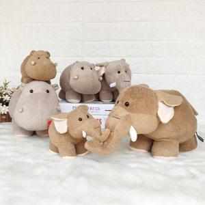 可爱长鼻大象公仔河马玩偶毛绒玩具抓 机娃娃儿童生日礼物