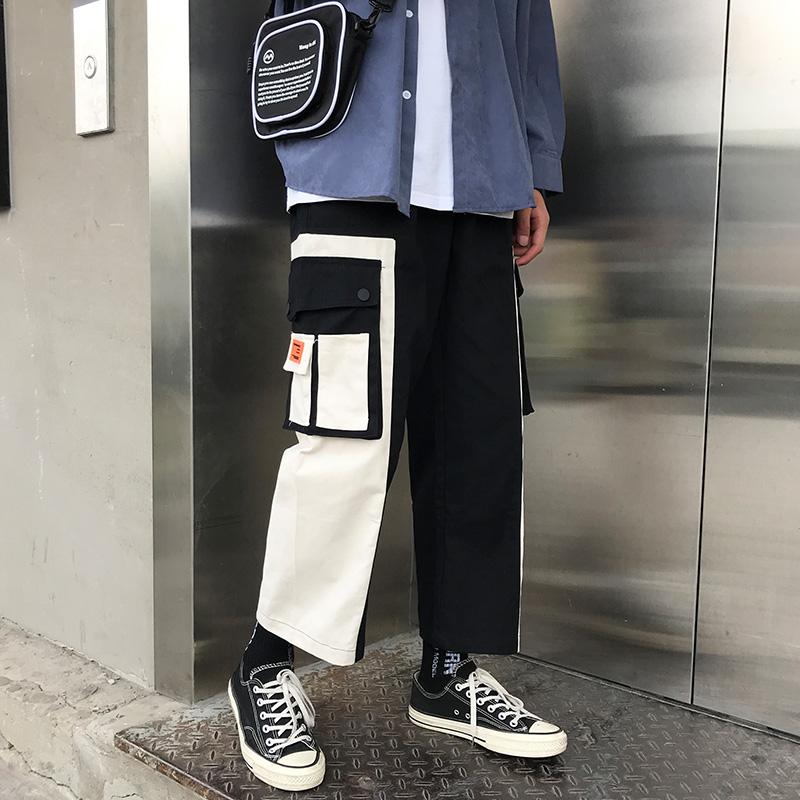 (用39.2元券)直筒工装裤男宽松九分坠感阔腿裤