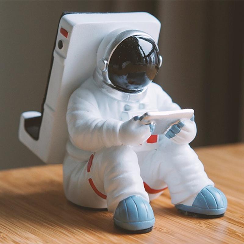 宇航员太空人手机支架熊猫苹果iPad支架平板电脑座创意摆件礼物