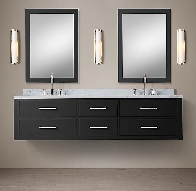米国RH家具イタリア式の軽い豪華な木造バスルームの戸棚アメリカンカントリーレトロバスルームの棚北欧のシンプルなキャビネット