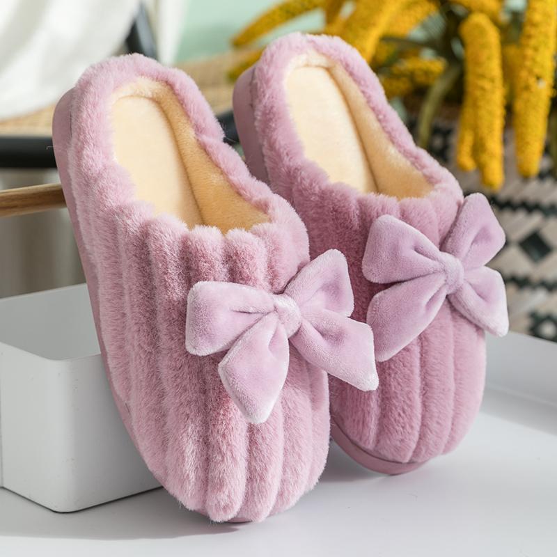 棉拖鞋女士家居厚底可爱2020新款保暖毛毛拖鞋秋冬季家用外穿冬天图片