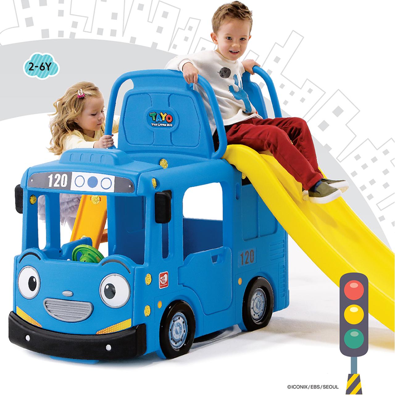 韩国YAYA儿童室内滑梯汽车游戏家用套装宝宝加长幼儿园玩具加厚