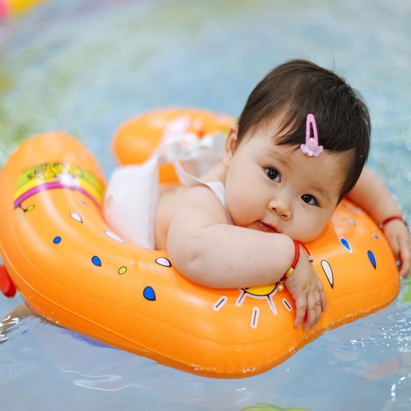 爱贝思腋下圈婴儿游泳圈宝宝趴圈背带浮圈送气筒球胶水耳塞,可领取5元天猫优惠券