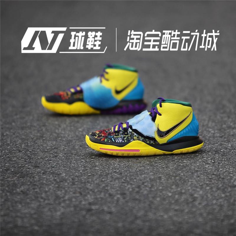 耐克NIKE KYRIE 6男子欧文6代黑白首发实战篮球鞋BQ4630-001图片