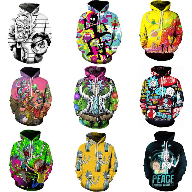 New Rick and modi 3D printed cardigan Hoodie Cosplay anime surrounding lovers top