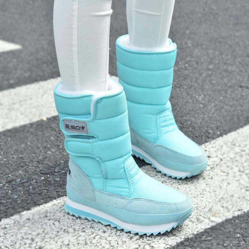 冬季户外防水男防滑平底中筒雪地靴