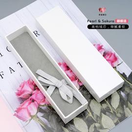 高档丝带水晶笔钢笔盒精致做工纸质礼盒加厚硬百搭简约少女心笔盒
