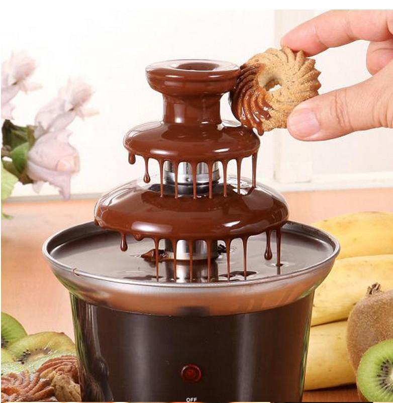 Шоколадный фонтан Шоколадный фонтанный трехцветный шоколадный фонтан