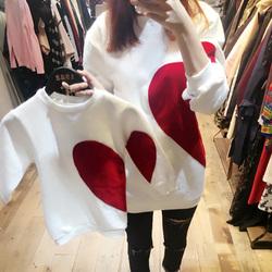 亲子装2020新款潮秋冬装母子装洋气网红高端母女装加绒卫衣外套