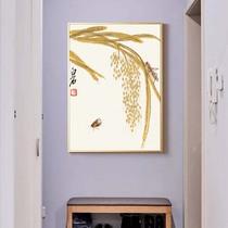 荷花蜻蜓丝绸国画家居装饰古色古香送礼送老外客户礼品画卷轴挂画