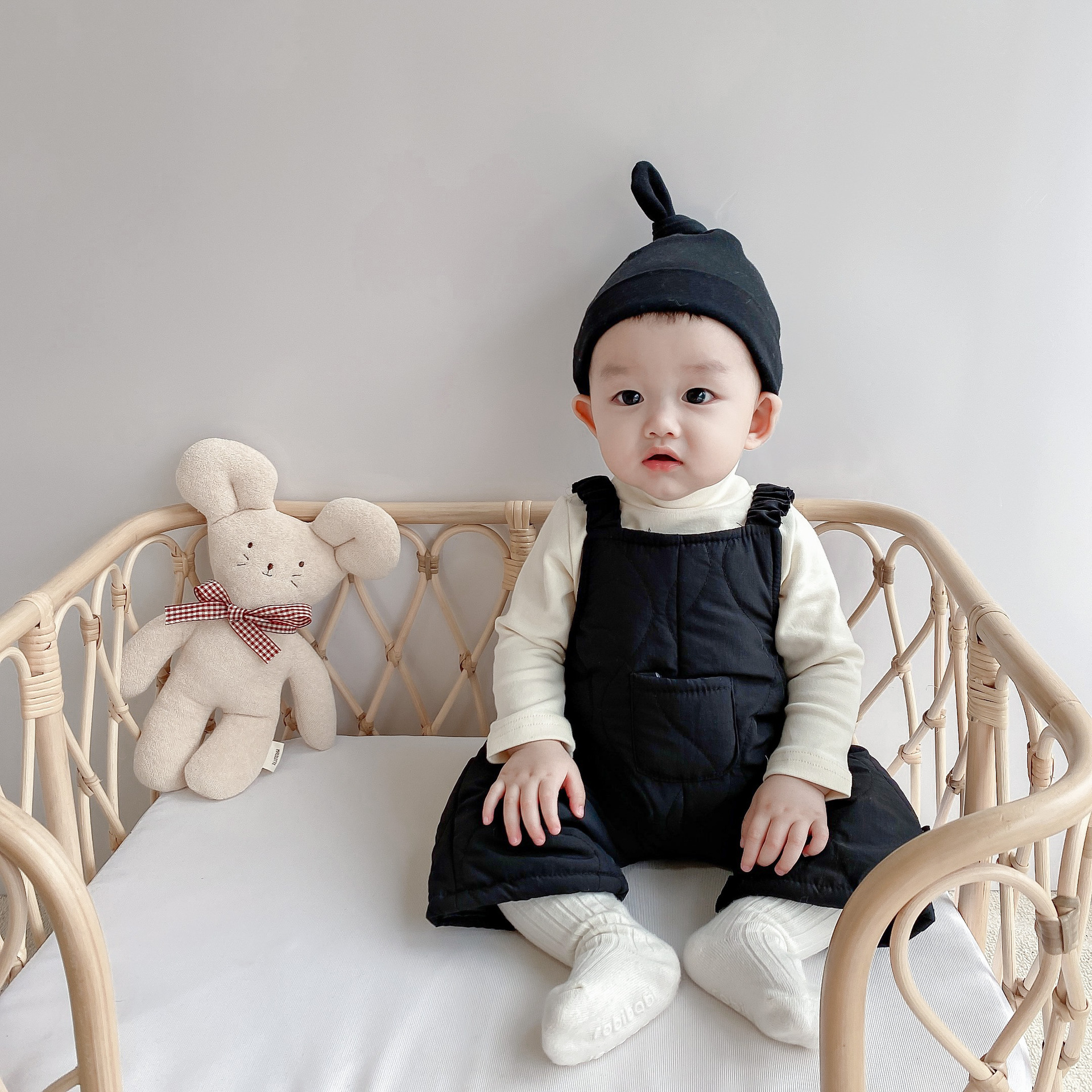 Ins Korean winter baby cotton padded jacket Romper Romper for boys and girls