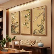 玄关走廊装饰画竖版挂画鸿运当头山水画风水靠山中堂画卷轴客厅