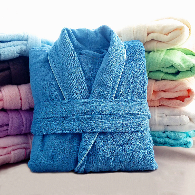 Bathrobe, Nightgown, cotton absorbent towel material, women and men, Chengjia beauty salon, hotel, extended thick, fall and winter, general large size