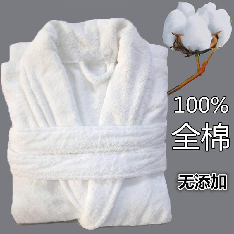 全純綿の白いバスローブタオルの材料は男女カップルで大人が水泳します。秋冬は四季の超強い吸水式スリーブサイズです。