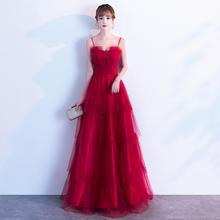 敬酒服2020结婚新款新娘酒红色孕妇高腰遮肚子回门晚礼服裙大气女
