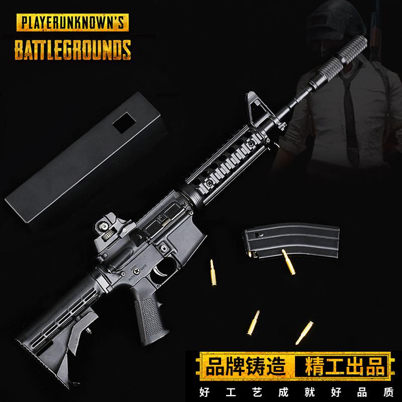 1:3.5绝地军事模型周边手办M416合金模型枪摆件自由拆卸不可发射