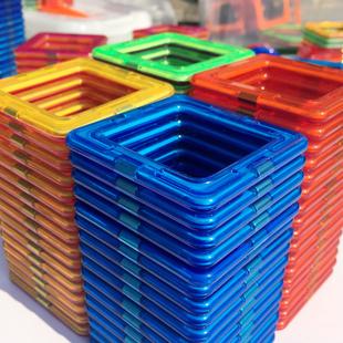 磁力片3-6岁男孩提拉磁性磁铁积木