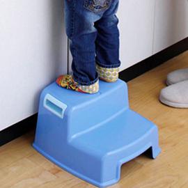 爱丽思IRIS儿童梯凳树脂耐用凳子环保橙色收纳凳KIS160E包邮