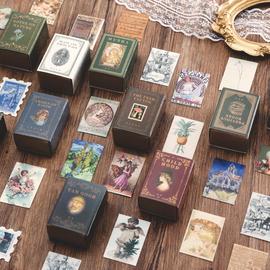 陌境 小藏书 欧美黑白复古怀旧lomo小卡片创意手帐装饰背景素材卡