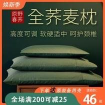 荞麦枕头单人学生儿童枕头纯荞麦皮全荞麦壳枕芯护颈椎枕大人家用