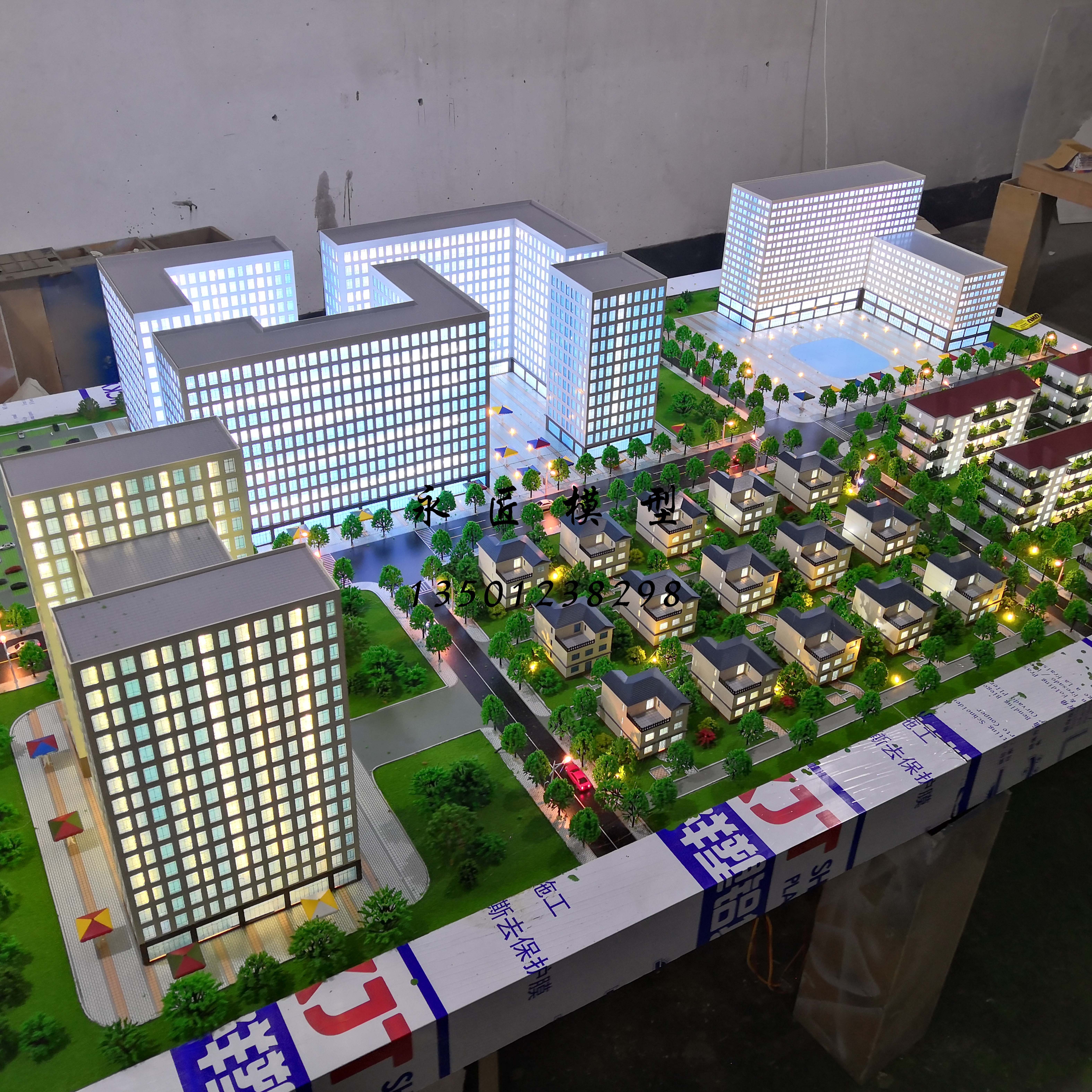 Customized real estate sales building urban building light steel villa factory map topography and landform photovoltaic sand table model customization