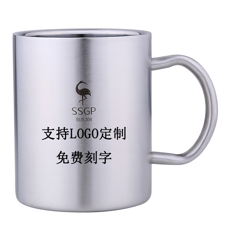304 stainless steel cup childrens water cup with handle