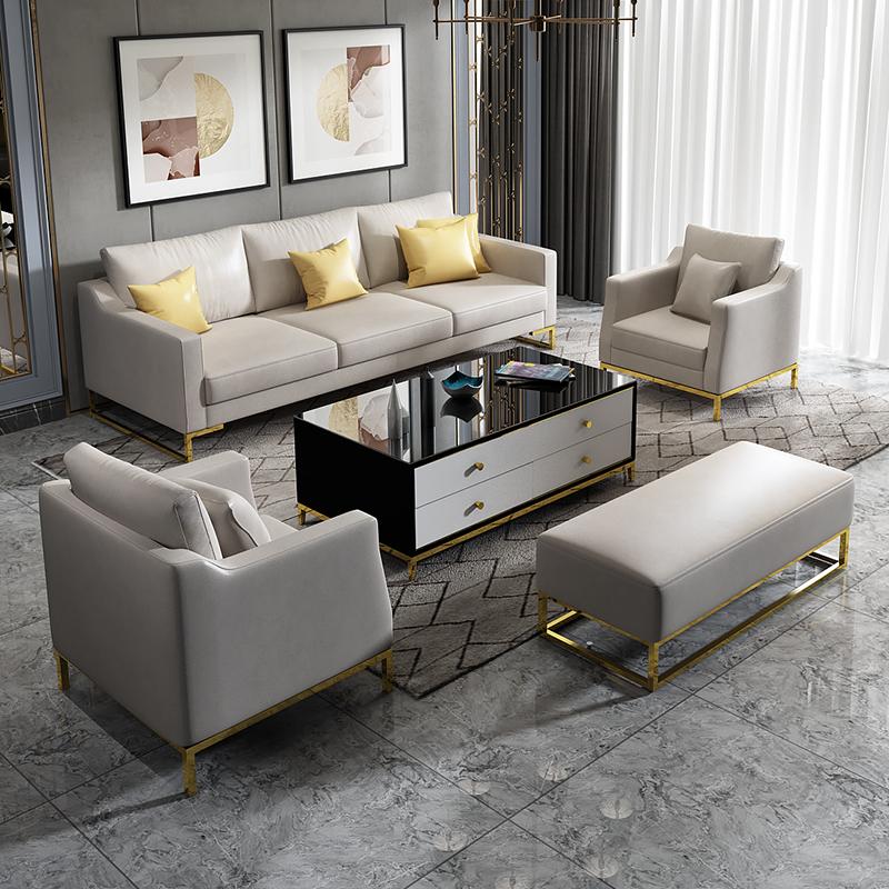 热销2件需要用券轻奢后现代美式小户型布艺客厅123沙发组合套装现代沙发科技布
