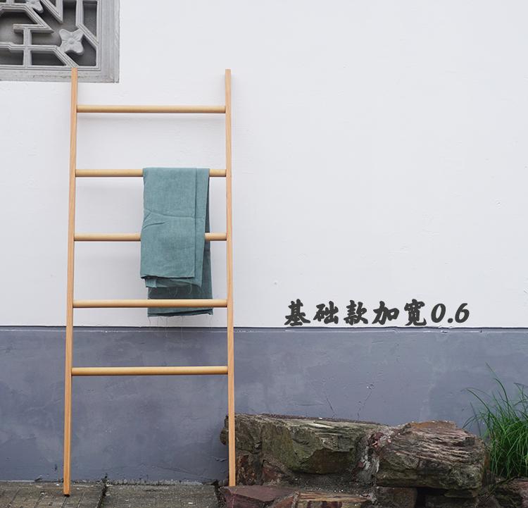 Дерево лестница этаж вешалка весить одежду полка творческий опираться на стена полка стенды спальня для полотенец для полотенец прекрасный угол