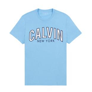 正品代購新款Calvin Klein卡文克萊CK短袖t恤男純色純棉紅白藍