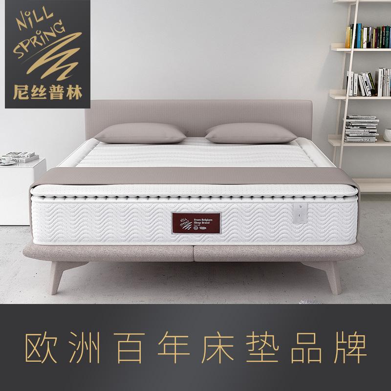尼丝普林独立弹簧进口乳胶床垫1.5 1.8米席梦思椰棕垫软硬用 约纳