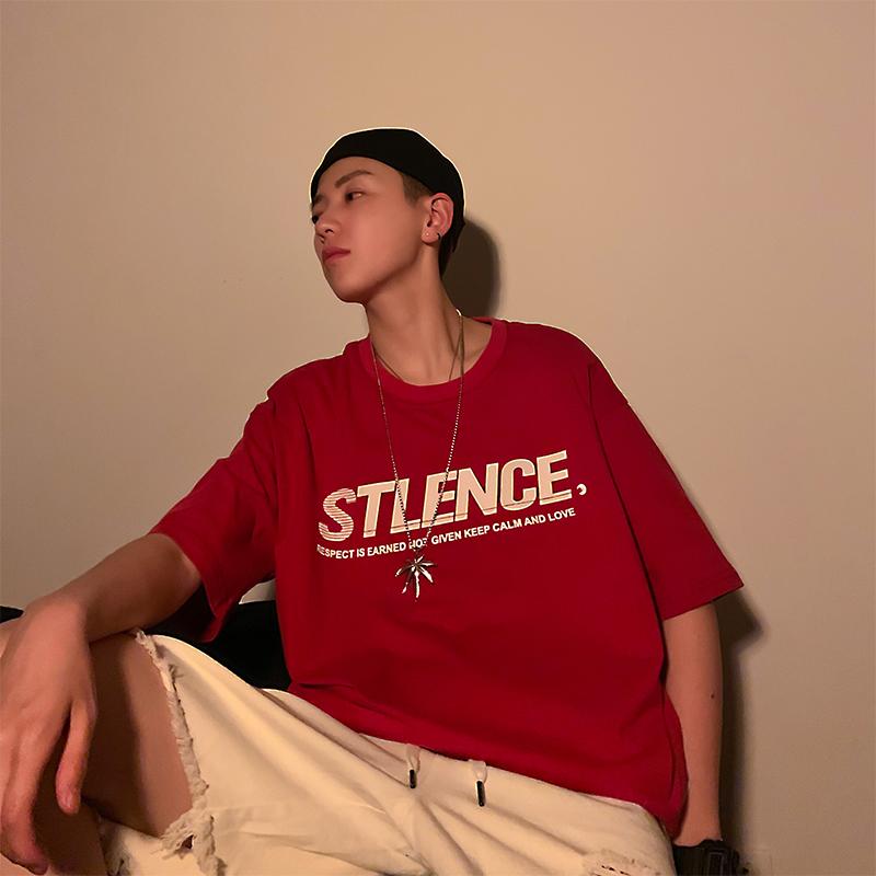 夏季网红ins男生短袖T恤潮牌韩版宽松超火的cec圆领潮流学生衣服65.00元包邮