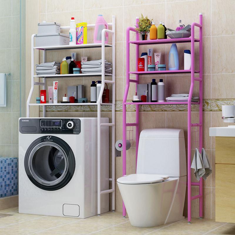 トイレの便器棚、トイレの棚、バスルーム、トイレの床に置く収納棚、洗濯機の収納棚
