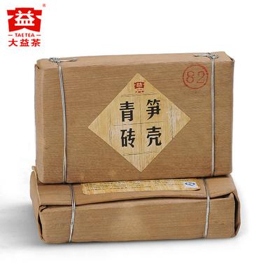大益 笋壳青砖 普洱茶 生茶 2012 砖茶 201批 勐海茶厂 茶砖