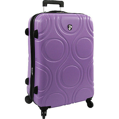 Trolley Case Travel Case Heys Hess 26 inch lilac purple hard faced suitcase