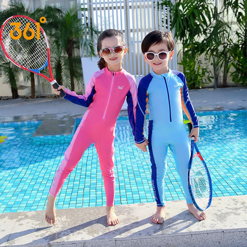 361度长袖儿童女童防晒长裤游泳衣