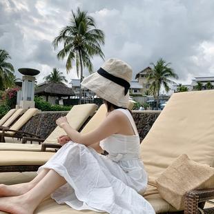 出口單~好貨推薦旅行防曬漁夫帽大檐遮陽帽遮臉任意造型太陽帽女