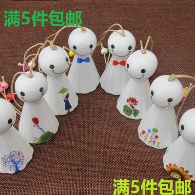 晴天陶瓷风铃挂饰日式创意女生生日礼物情侣卧室铃铛挂件客厅娃娃